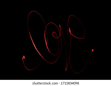 """Light painting of the word """"love""""."""