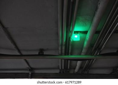 light at parking lot in department store , Parking guidance system lights ,  parking lot ultrasonic sensor