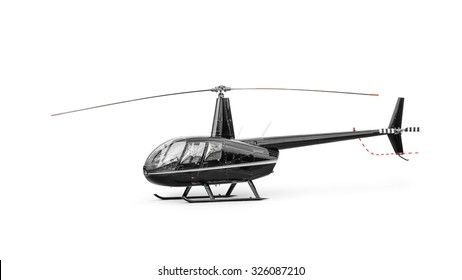 Light passenger helicopter isolated on a white background. Clipping path included.
