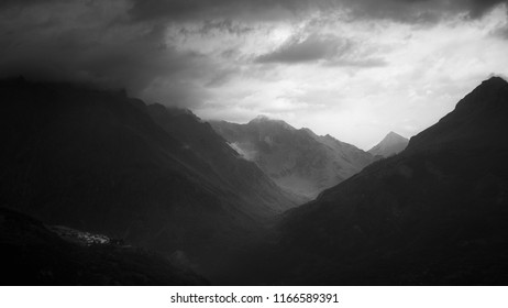 light perspective until a small village in the french alps