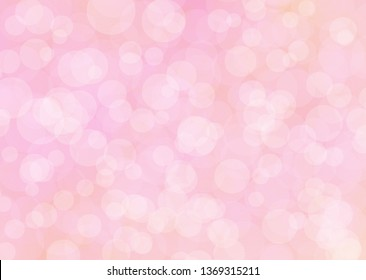 Light Pink abstract glitter bokeh background