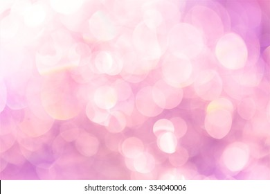 Light pink bokeh abstract background