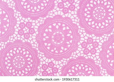 Light pink openwork on a white background