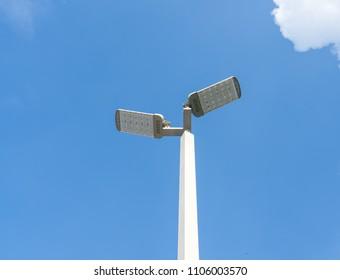 Light  pole  with  blue  sky   background.