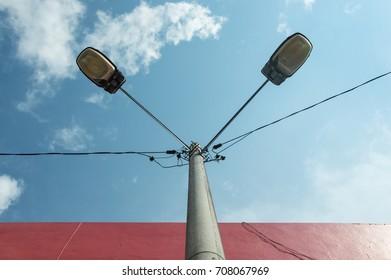 Light Pole Look Up