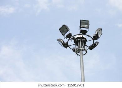 light pole in sky