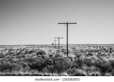Light poles on Old Route 66.