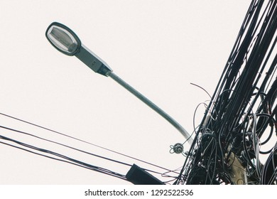 the Light poles, side ways and wires 2