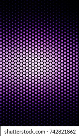Light Purple, Pink illustration which consist of circles. Dotted gradient design for your business. Creative geometric background in halftone style with colored spots.