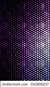 Light Purple vertical illustration which consist of circles. Dotted gradient design for your business. Creative geometric background in halftone style with colored spots.