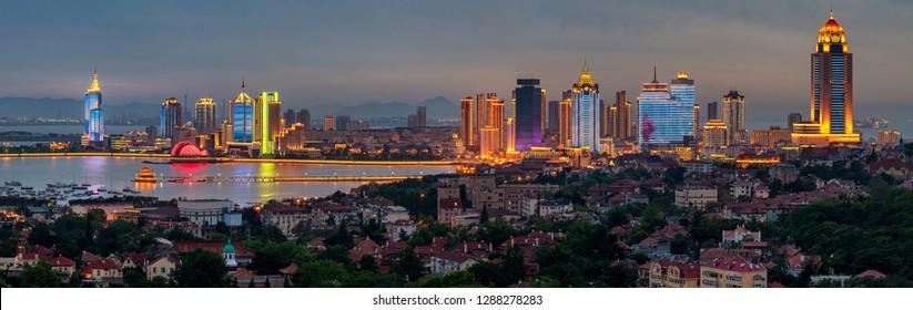 Light of the Qingdao Bay Summit in Qingdao, Shandong Province