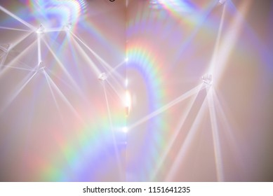 Light refracting in three prisms
