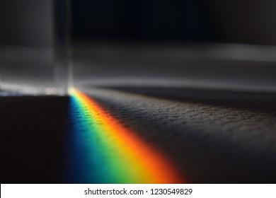 Light refraction rainbow