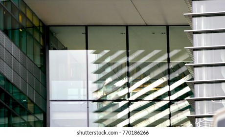 light and shadow glass building close up