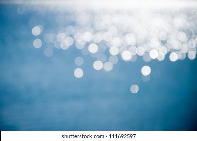 Light shining on the lake