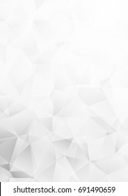 Light Silver, Gray polygonal pattern. Shining colored illustration in a brand-new style. The best triangular design for your business.
