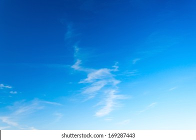 Light sky background, clear sky with light clouds at sunny day.