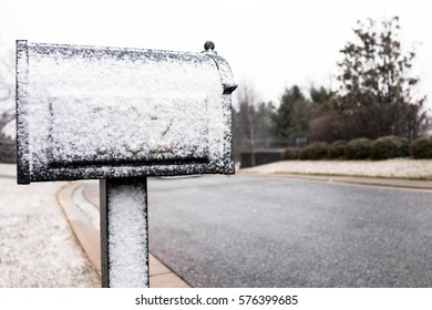 Light Snow Covering on Mailbox