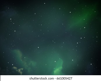 light in space night sky with cloud and star, abstract science background