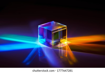 the light spectrum reflected from a crystal cube
