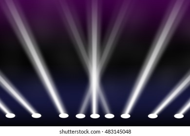 Light spotlights stage show