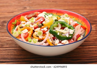 Light spring salad. Healthy low fat eating concept.