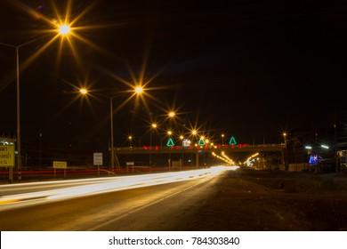 light of star ,light of street ,light of night, Road in night, merry christmas