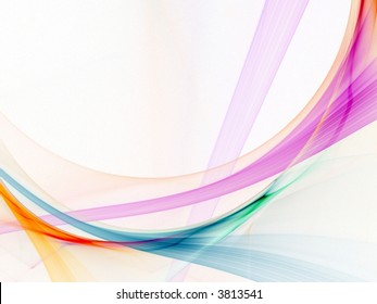 Light strands of bright colors (computer generated, fractal abstract background)