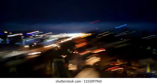Light streak at night