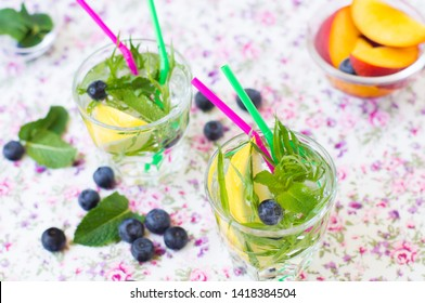 Light summer drink with mint and tarragon
