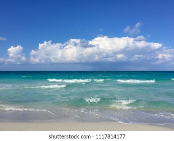 Light surf on the Atlantic coast, Cuba, Varadero