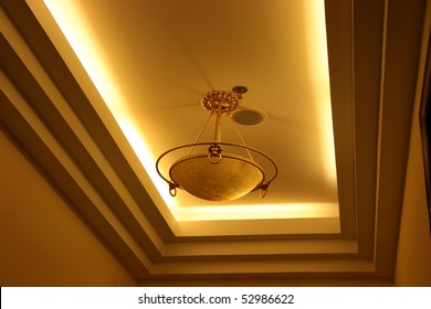 light suspended from ceiling