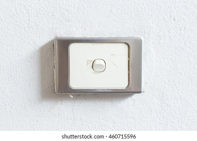 light switch on the wall background