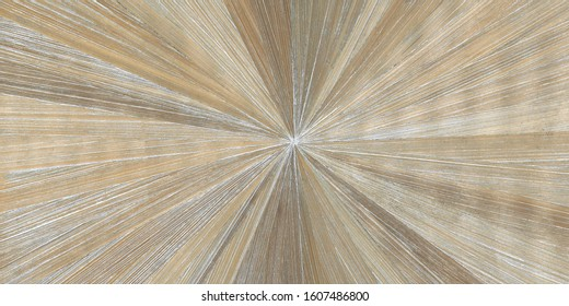 Light taupe coloured straw marquetry in starburst pattern