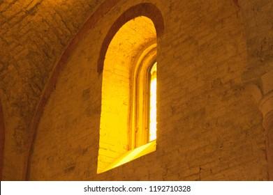 Light through a church window (Marche, Italy, Europe)