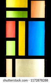 Light through the stained glass.