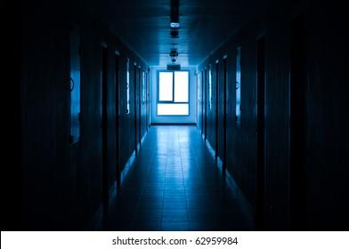 Light through window at corridor.