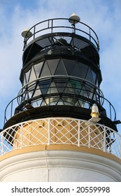 The light at the top of the lighthouse