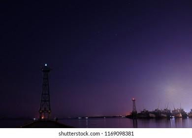 light towet at night