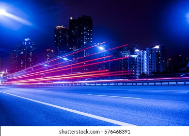 light trail photography with wrong white balance