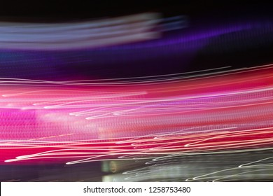 Light trails in Lineage. Art image. Long exposure photo taken in a Lineage. - Image