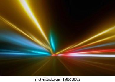 Light Trails in the Dark, Traffic Light Trails, Abstract Traffic Lines Background