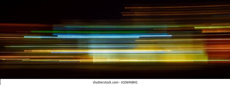 Light trails on dark background