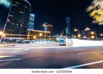 light trails on the street of beijing,china