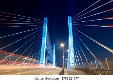 Light Trails over Kosciuszko Bridge