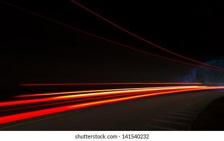 Car Light Trails Images Stock Photos Vectors Shutterstock