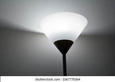 The light from uplight lamp.