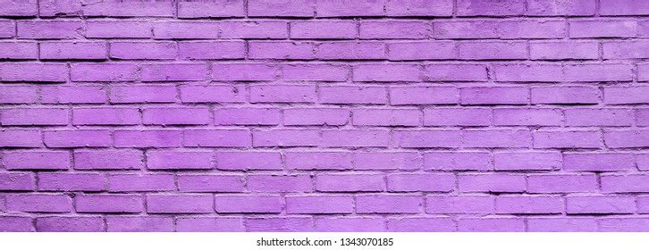 Light violet Brick wall texture close up. Top view. Modern brick wall wallpaper design for web or graphic art projects. Abstract background for business cards and covers. Template or mock up.