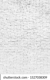 Light white Brick wall block old and crack for background,texture copy space