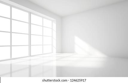light white room and big window